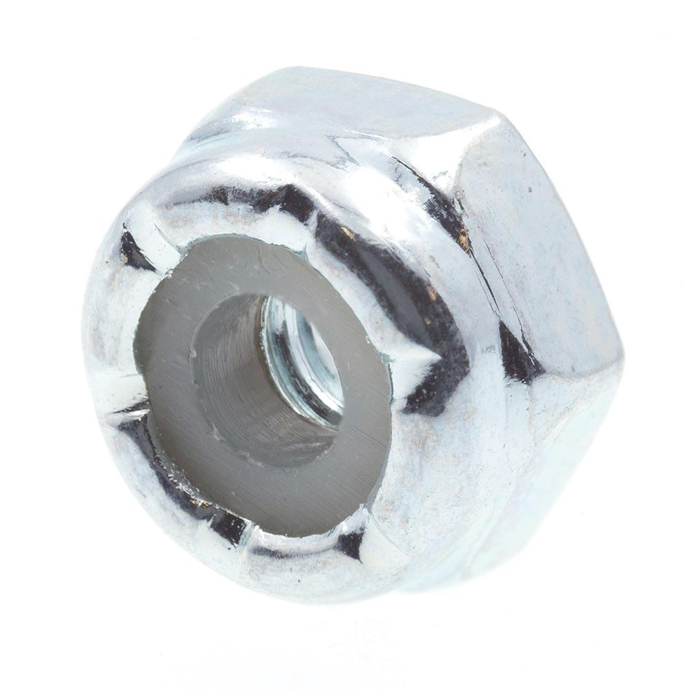 #4-40 Grade 2 Zinc Plated Steel Nylon Insert Lock Nuts 50-Pack)