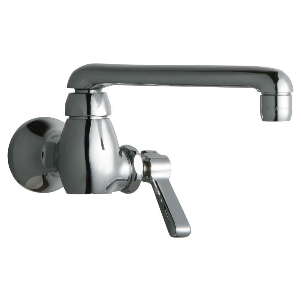 Chicago Faucets 1-Handle Kitchen Faucet in Chrome with 6 in. S Type ...