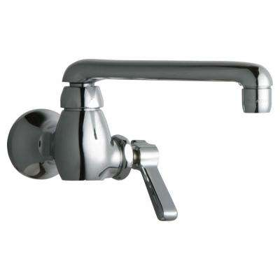 1-Handle Kitchen Faucet in Chrome with 6 in. S Type Swing Spout