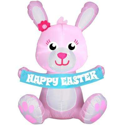 3.5 ft. Airblown Inflatable Pink Bunny