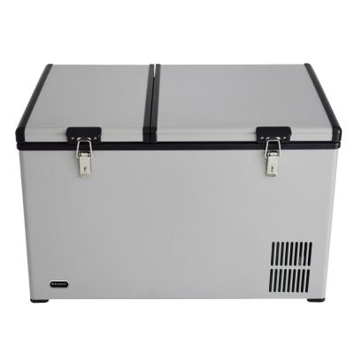 90 Quart Dual Zone Portable Fridge/Freezer with 12V Option and Wheels