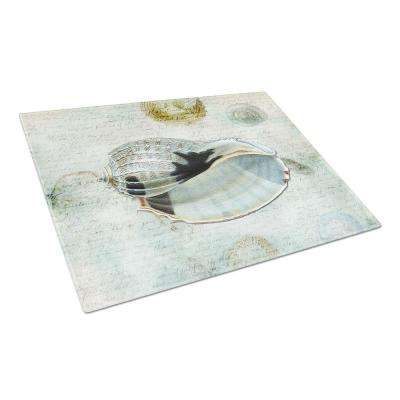 Shells Tempered Glass Large Cutting Board