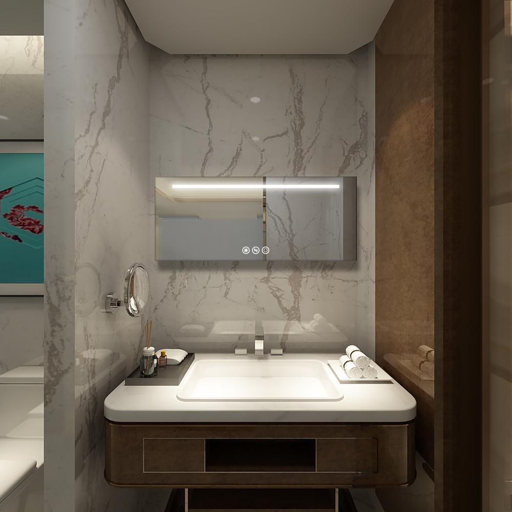 72 in x 30 in Led Frameless Bathroom/Wall Mirror