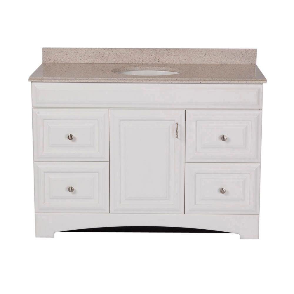 St. Paul Providence 48 in. Vanity in White with Colorpoint Vanity Top in Maui