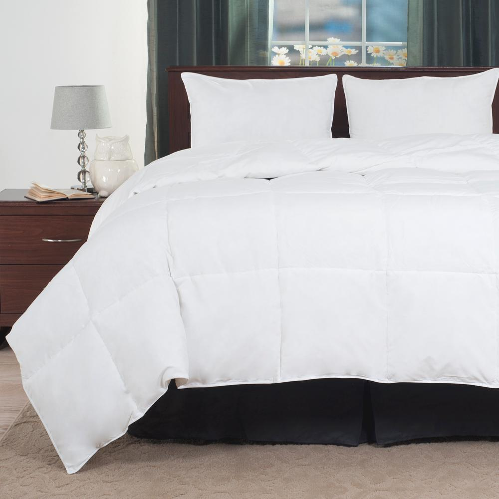 Overfilled White Down Alternative Twin Comforter