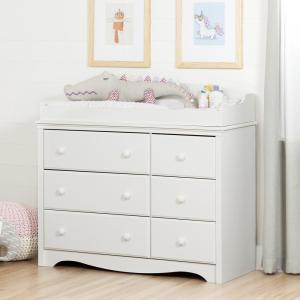 South Shore Angel 6 Drawer Pure White Changing Table 10208   The Home Depot