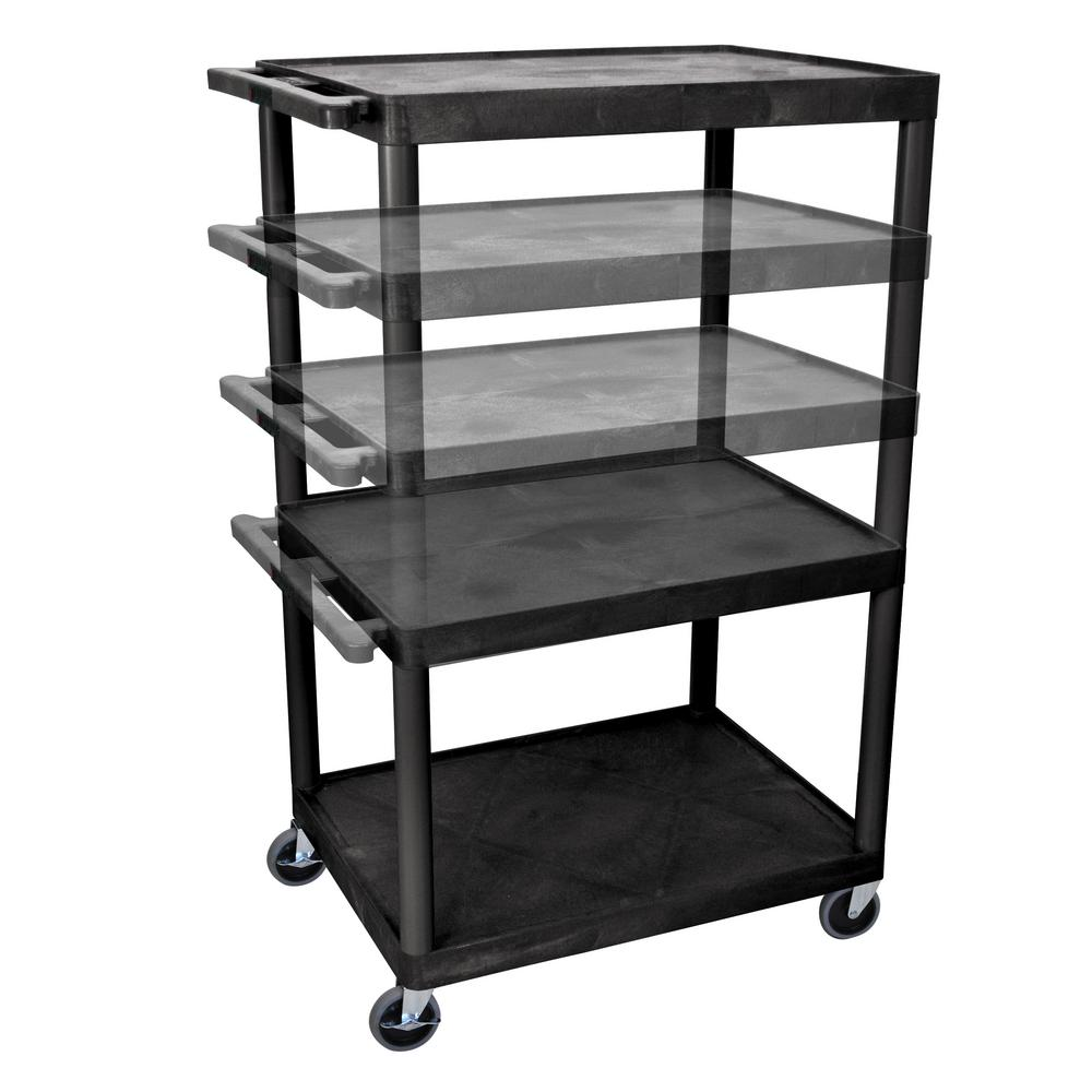 luxor LP Multi Height 32 in. A/V Cart in Black