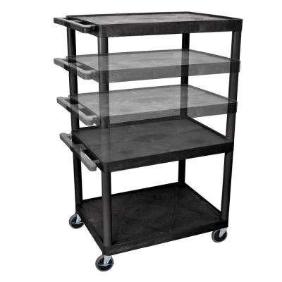 LP Multi Height 32 in. A/V Cart in Black