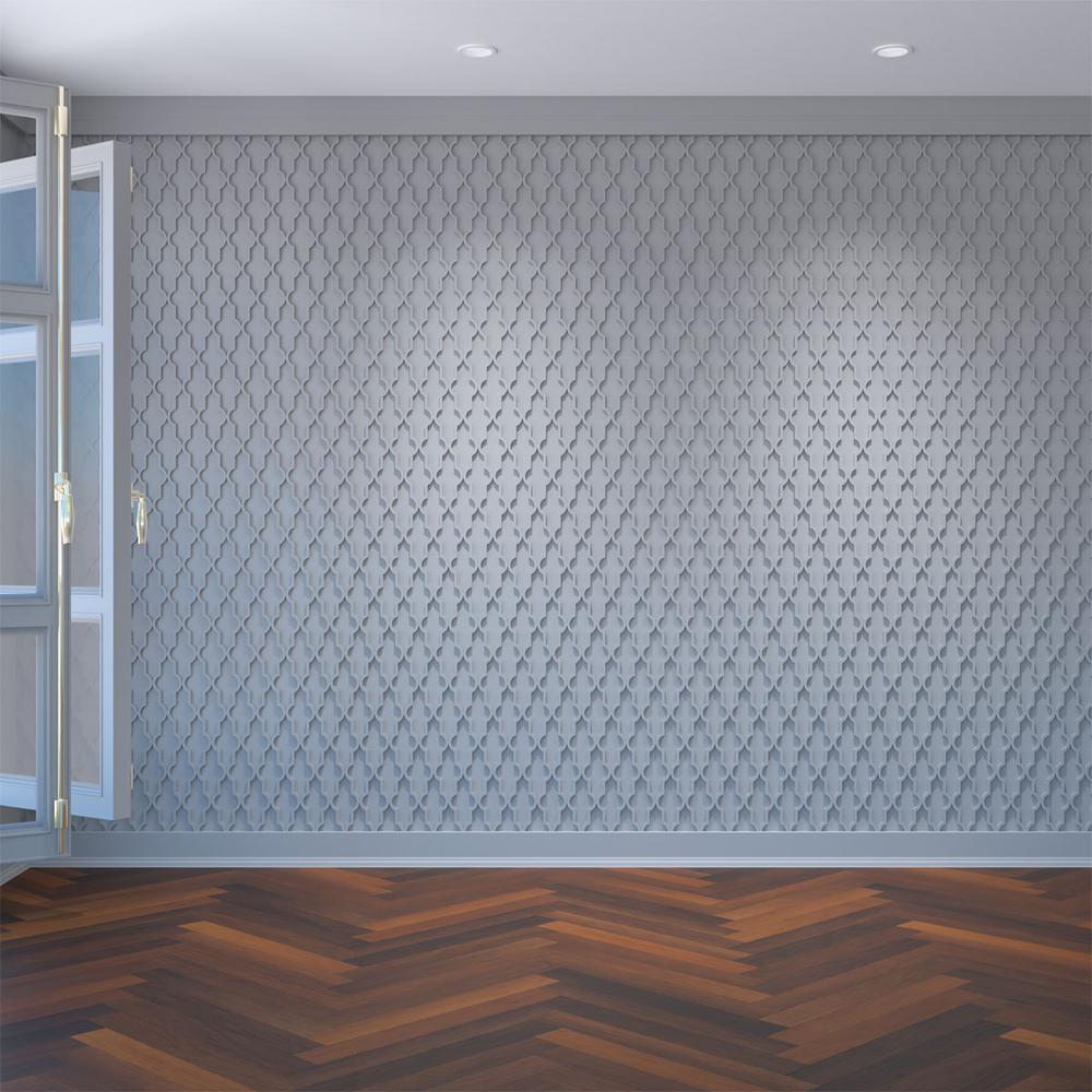 3/8 in. x 15-3/4 in. x 15-3/4 in. Medium Casablanca White Architectural Grade PVC Decorative Wall Panels