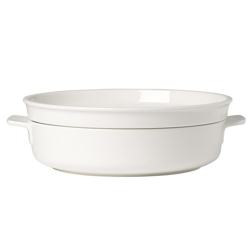 Clever Cooking 2-Piece 9.5 in. Round Casserole Dish with Lid
