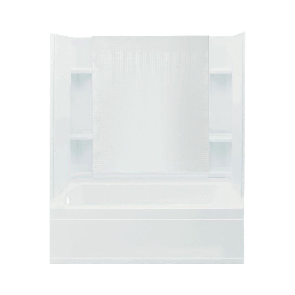 STERLING Accord 32 in. x 60 in. x 76 in. Four Piece Direct-to-Stud Bath/Shower Kit in White-DISCONTINUED