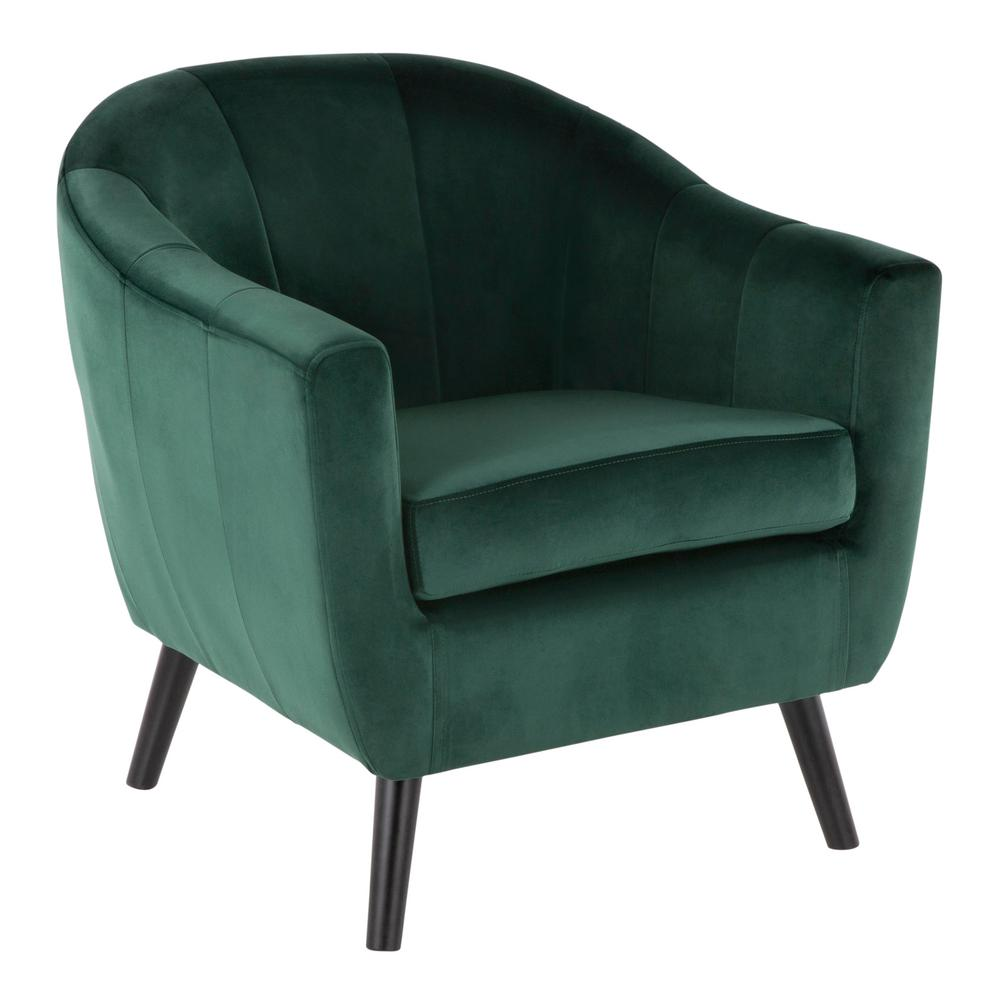 Exceptionnel Lumisource Rockwell Green Velvet Accent Chair