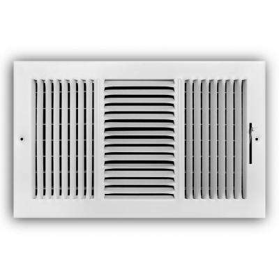 14 in. x 8 in. 3-Way Wall/Ceiling Register