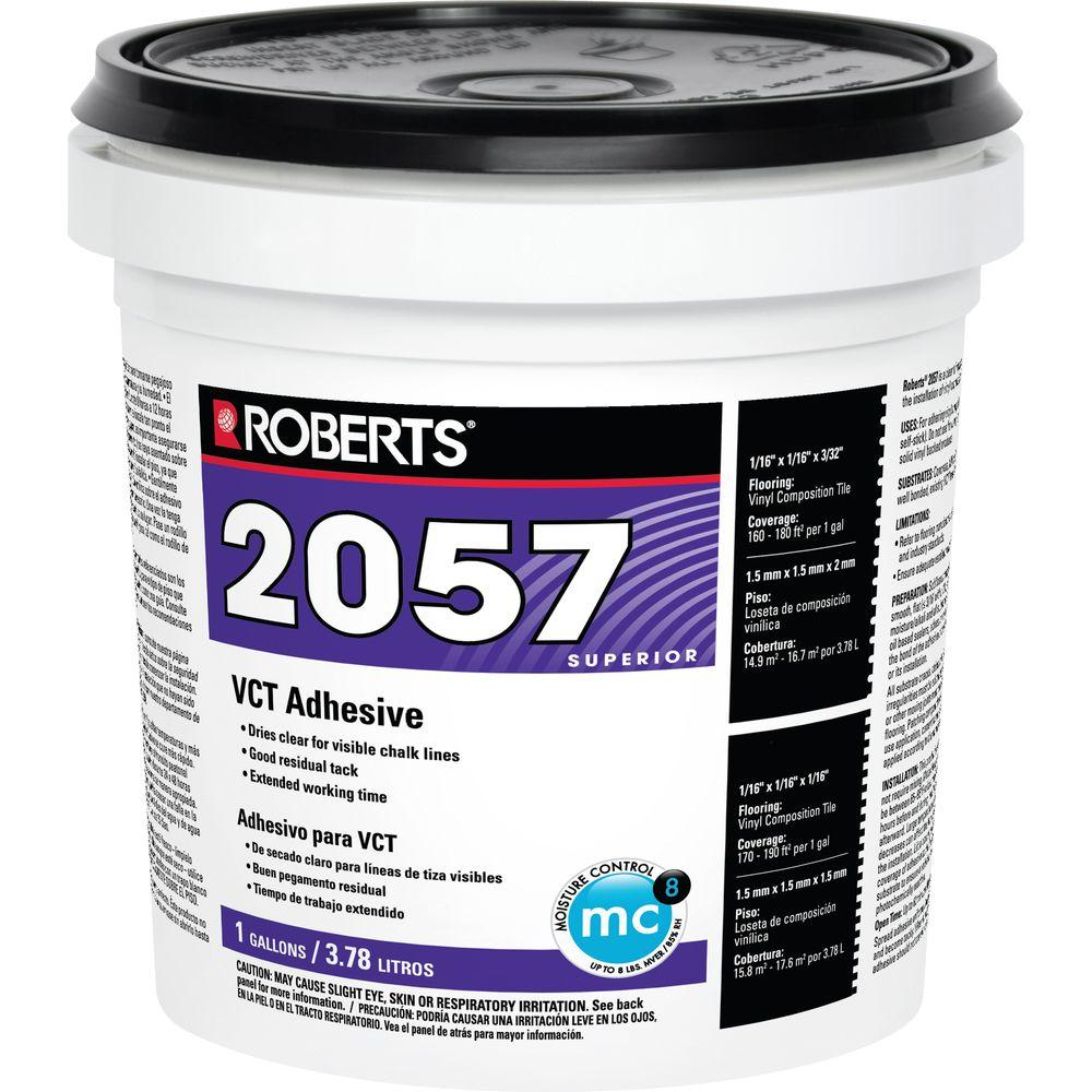 Roberts 1 gal premium vinyl tile adhesive 2057 1 the for Household cement