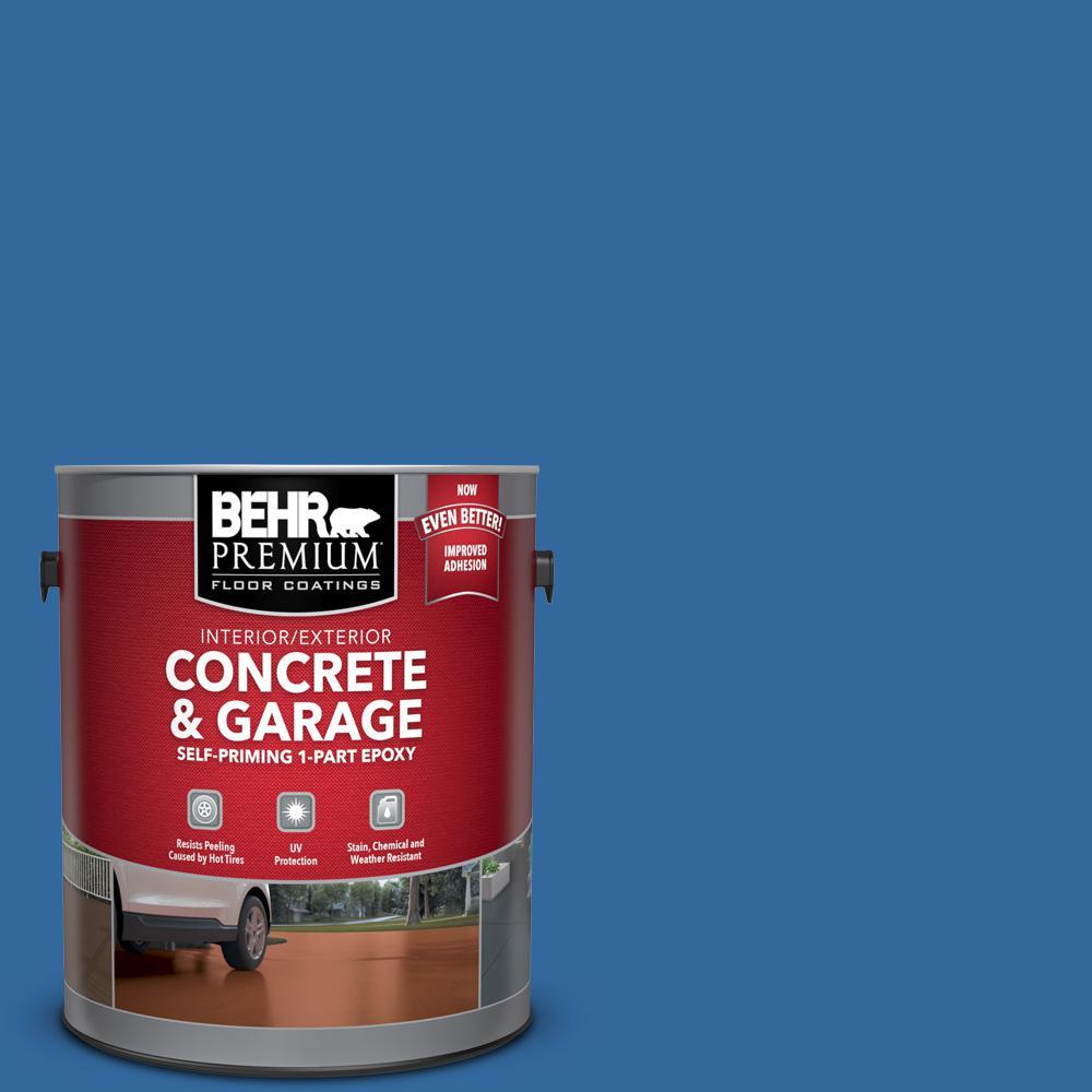 BEHR Premium 1 gal. #P500-7 Cosmic Cobalt Self-Priming 1-Part Epoxy Satin Interior/Exterior Concrete and Garage Floor Paint