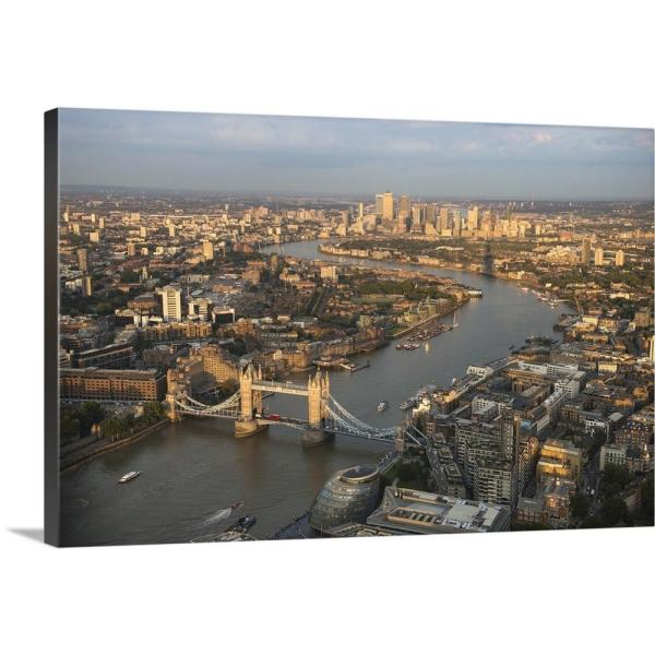 Aerial View Of London England Uk By Circle Capture Canvas Wall Art