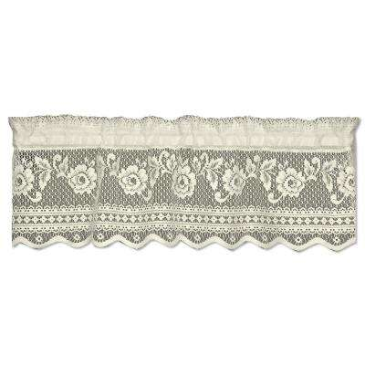 Starfish 9 in. L Polyester Valance in White
