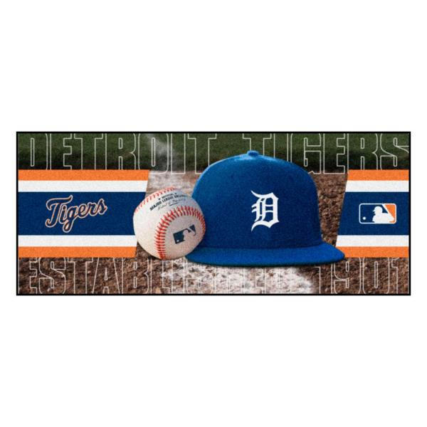 Detroit Tigers 3 ft. x 6 ft. Baseball Runner Rug