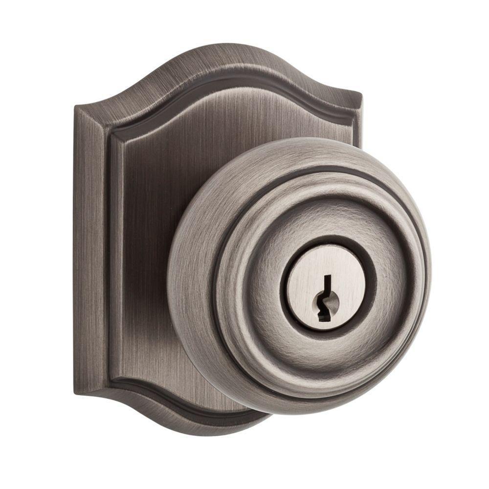 Traditional Matte Antique Nickel Entry Knob
