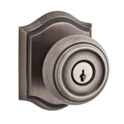 Traditional Matte Antique Nickel Entry Knob