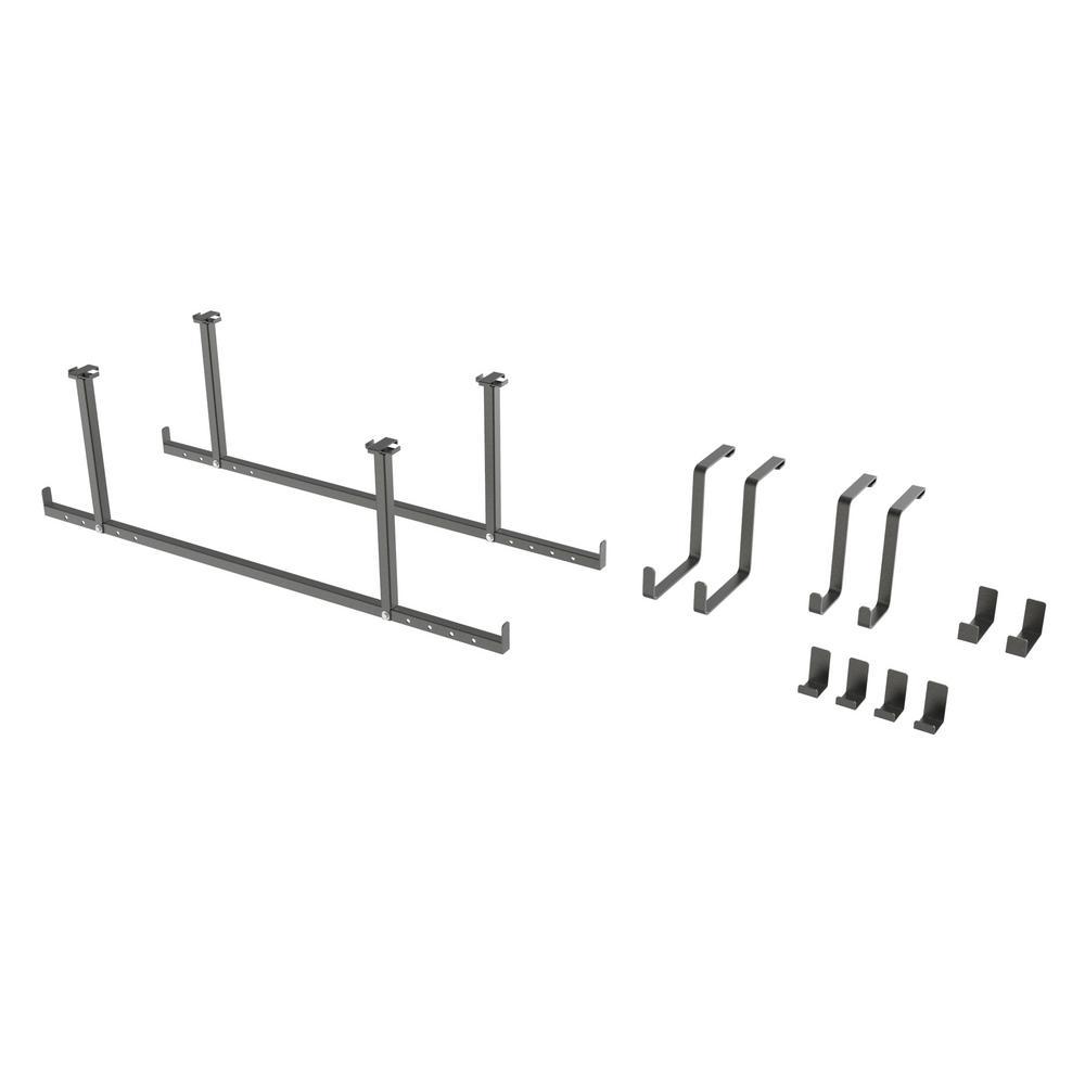 VersaRac 15 in. H x 2 in. W x 47 in. D Ceiling Mounted Steel 12-Piece Accessory Kit in Gray
