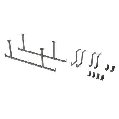 VersaRac 15 in. H x 2 in. W x 47 in. D Ceiling Mounted Steel 12-Piece Accessory Kit in Gray