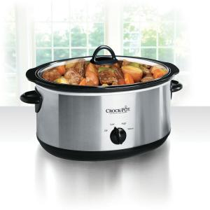 Click here to buy Crock-Pot 8 Qt. Manual Slow Cooker in Stainless Steel by Crock-Pot.