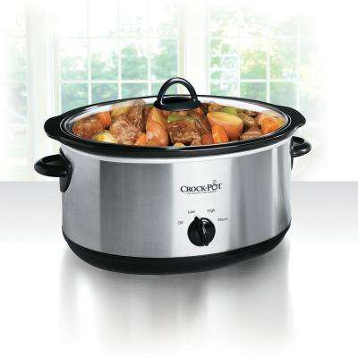 8 Qt. Manual Slow Cooker in Stainless Steel