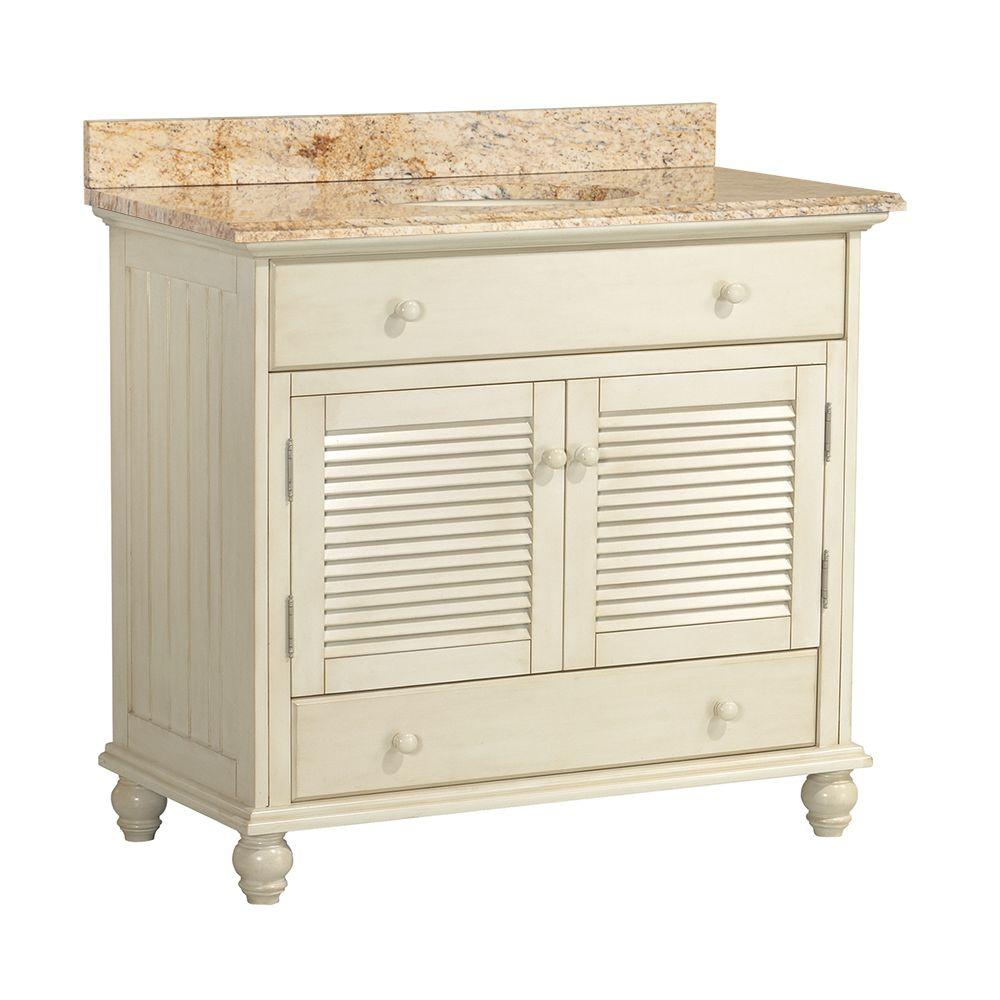Cottage 37 in. W x 22 in. D Vanity in Antique
