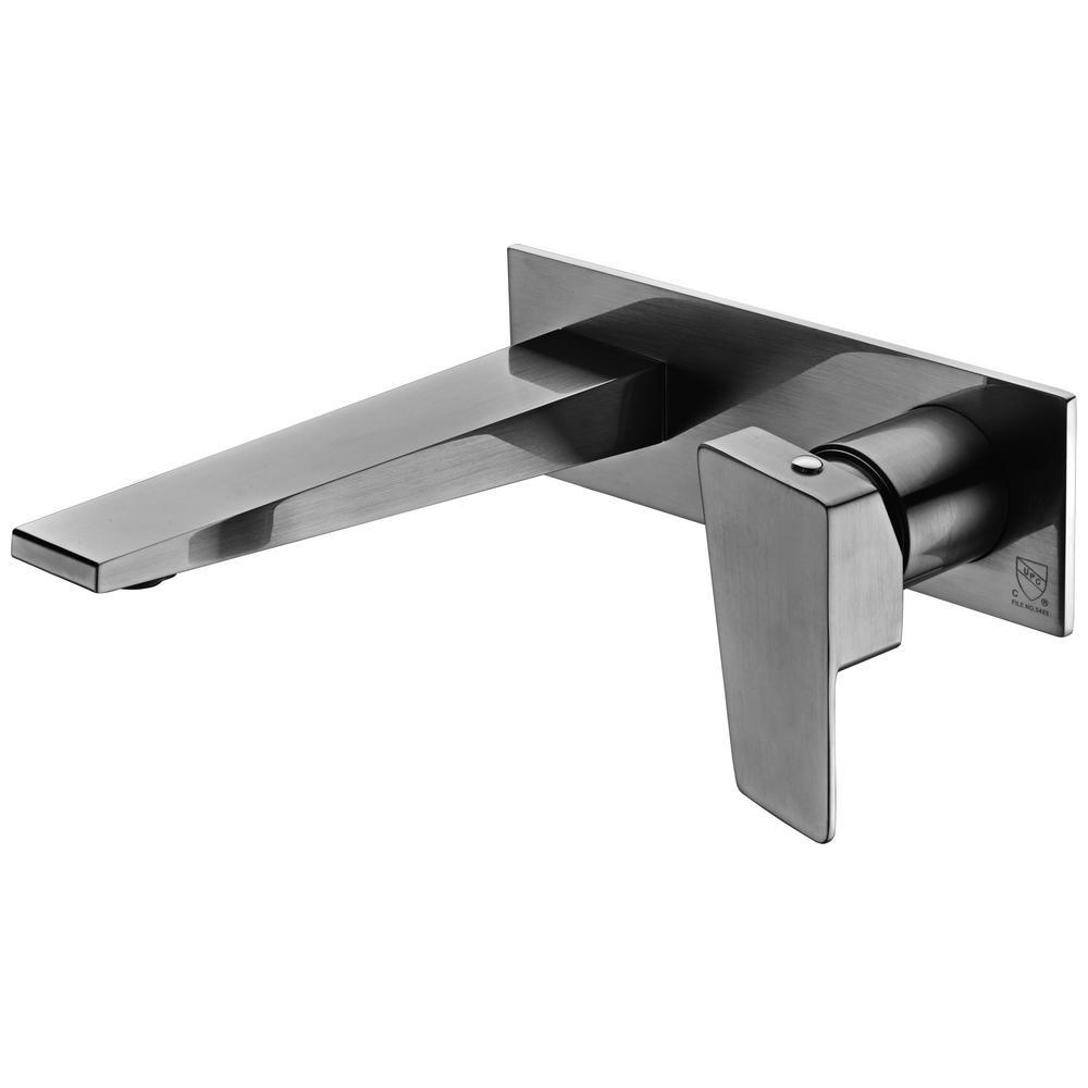 ALFI BRAND Single-Handle Wall Mount Bathroom Faucet in Brushed Nickel