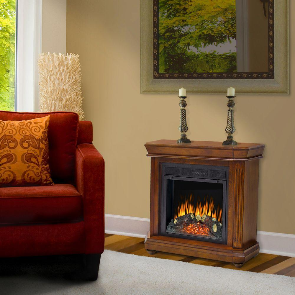 Pleasant Hearth Somerset 30 in. Electric Fireplace in Chestnut-DISCONTINUED