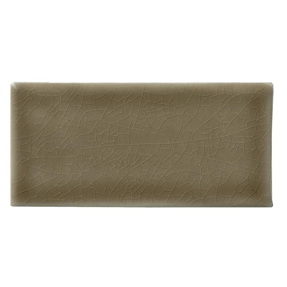 MSI Artisan Taupe Handcrafted 3 in. x 6 in. Glossy Ceramic Brown Subway Tile (1 sq. ft. / case)