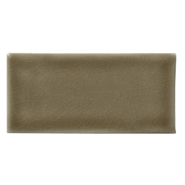 Artisan Taupe Handcrafted 3 in. x 6 in. Glossy Ceramic Brown Subway Tile (1 sq. ft. / case)