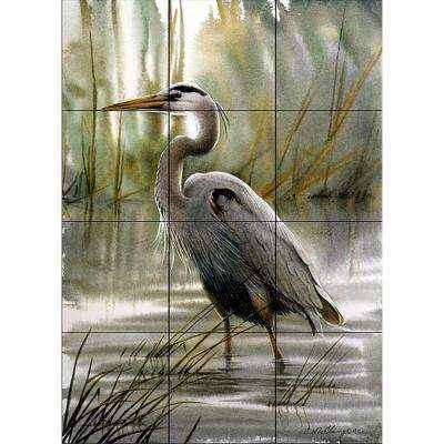 First Light 12-3/4 in. x 17 in. Ceramic Mural Wall Tile