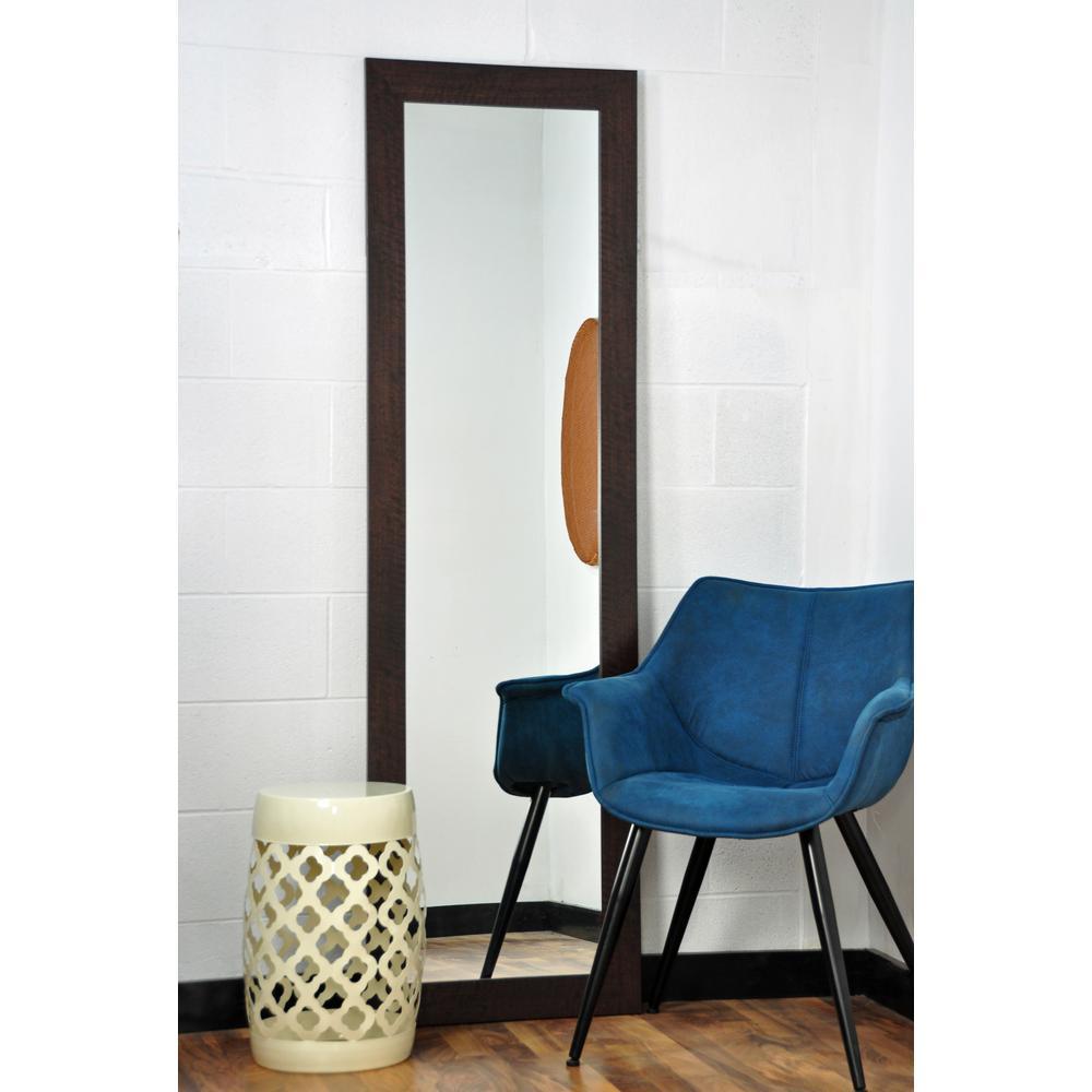 Modern Rustic Dark Walnut Full Length Framed Mirror-BM6THIN - The ...