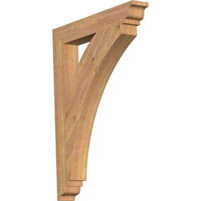 3.5 in. x 34 in. x 26 in. Western Red Cedar Thorton Traditional Smooth Bracket