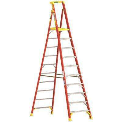 12 ft. Fiberglass Podium Ladder with 16 ft. Reach and 300 lbs. Load Capacity Type IA Duty Rating