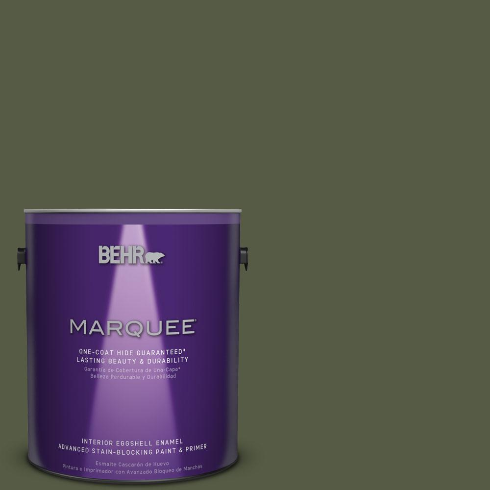 1 gal. #MQ6-54 River Forest One-Coat Hide Eggshell Enamel Interior Paint