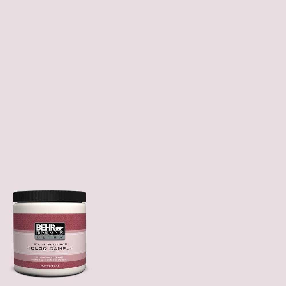 8 oz. #100E-1 Coquette Matte Interior/Exterior Paint and Primer in One