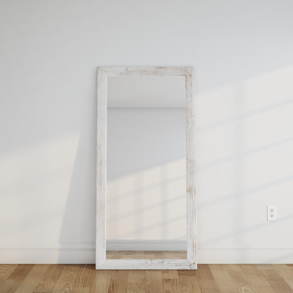 Distressed White Barnwood Full Length Floor Wall Mirror-BM032TS ...