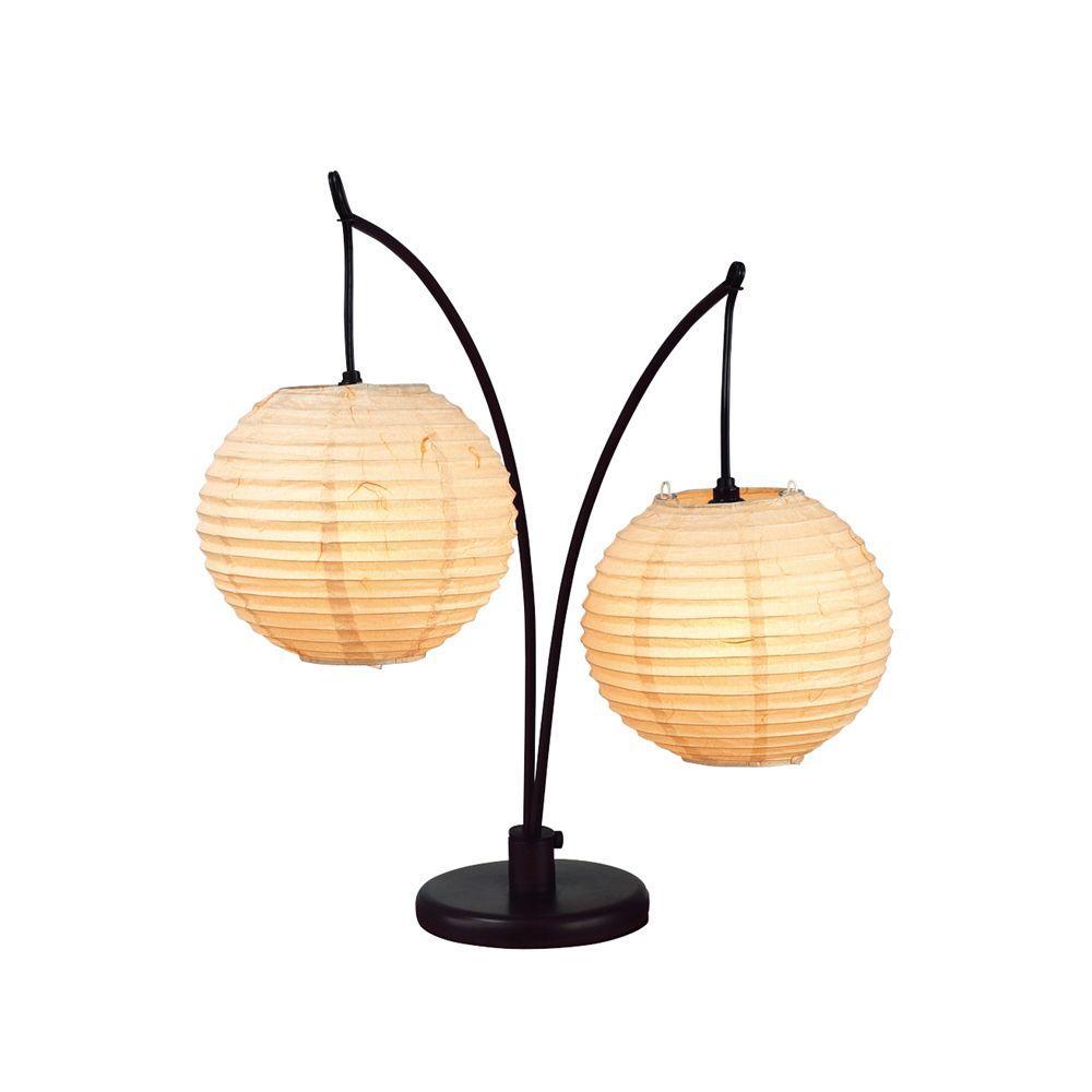 Adesso Spheres 24 in. Antique Bronze Table Lamp