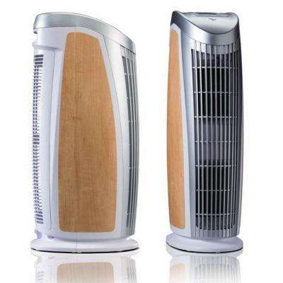 T500 Designer Tower Air Purifier with HEPA-Silver to Remove Allergies Mold and Bacteria