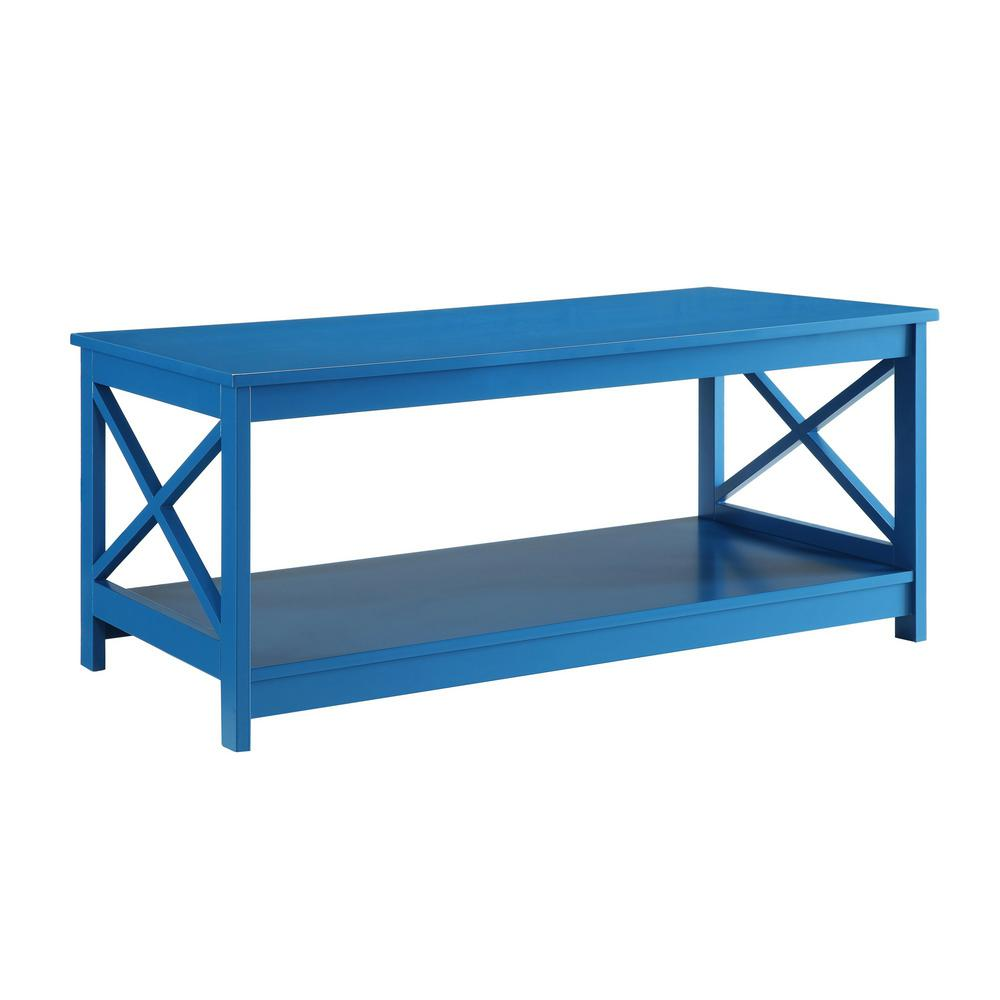 Convenience Concepts Oxford Blue Coffee Table
