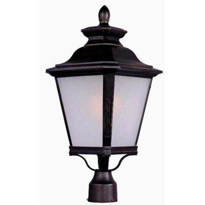 Knoxville 11 in. Wide 1-Light Outdoor Bronze Post Light