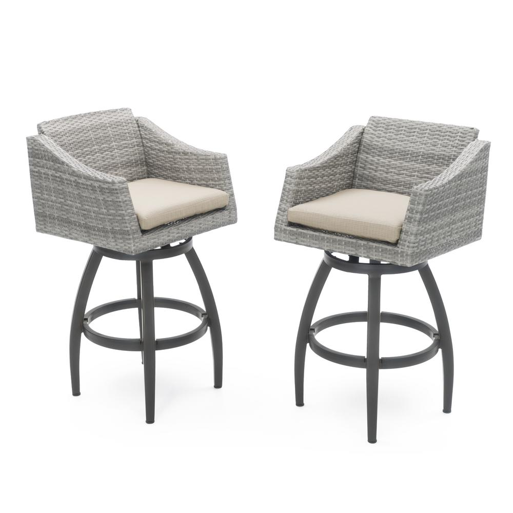 Rst Brands Cannes All Weather Wicker Motion Patio Bar