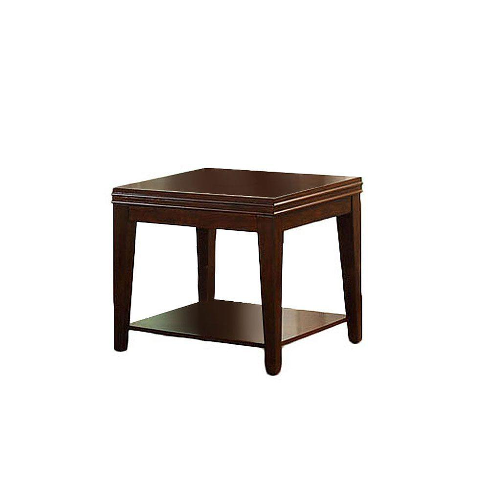 Furniture of America Richmond Dark Cherry End Table-DISCONTINUED