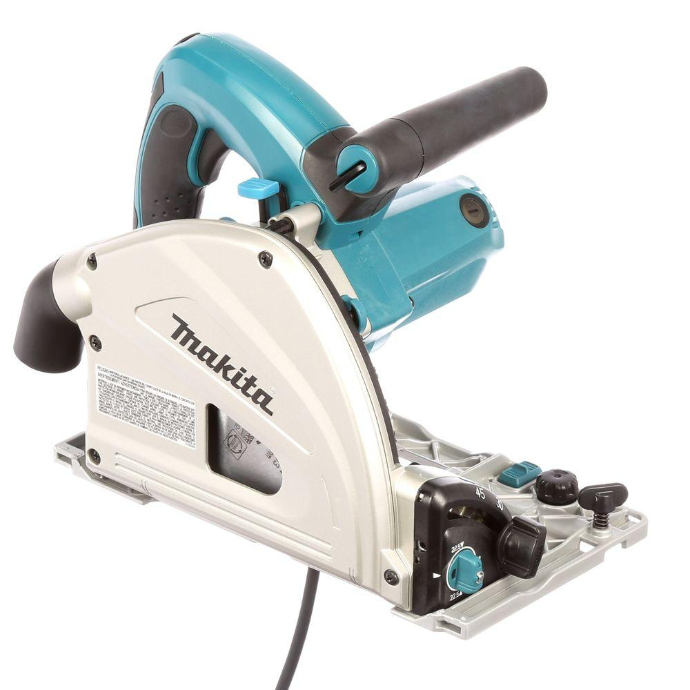 Makita 12 Amp 6-1/2 in. Corded Plunge Saw with 55 in. Guide Rail, 48T Carbide Blade and Hard Case