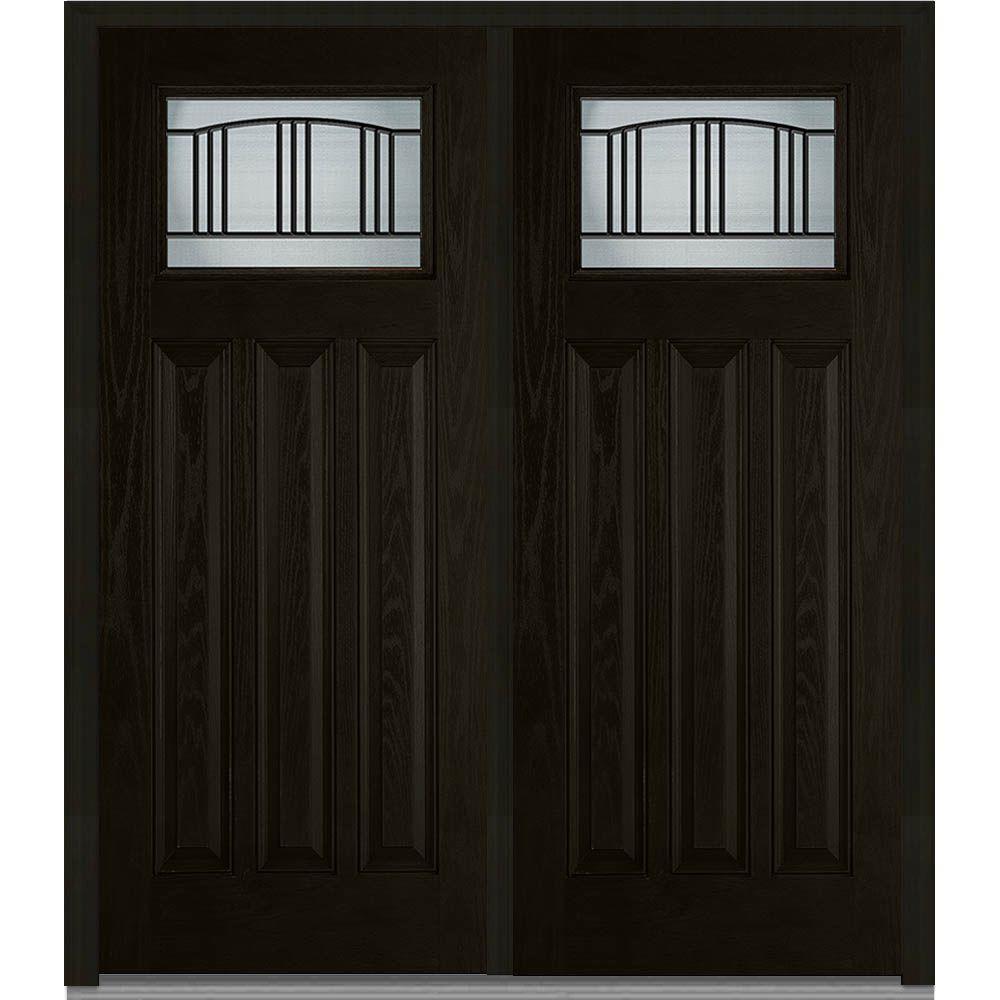 MMI Door 72 in. x 80 in. Madison Right-Hand Craftsman 1/4 Lite 3 ...