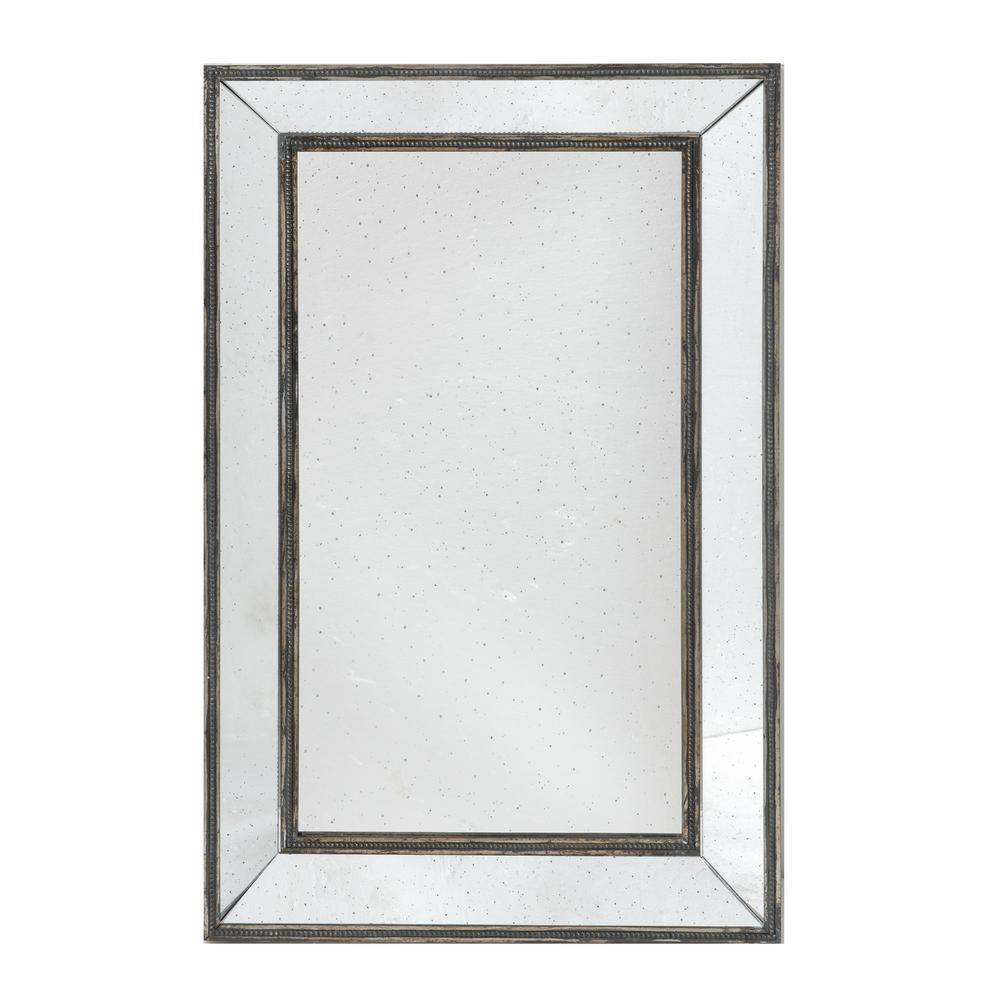 Rectangular Brown Mirror