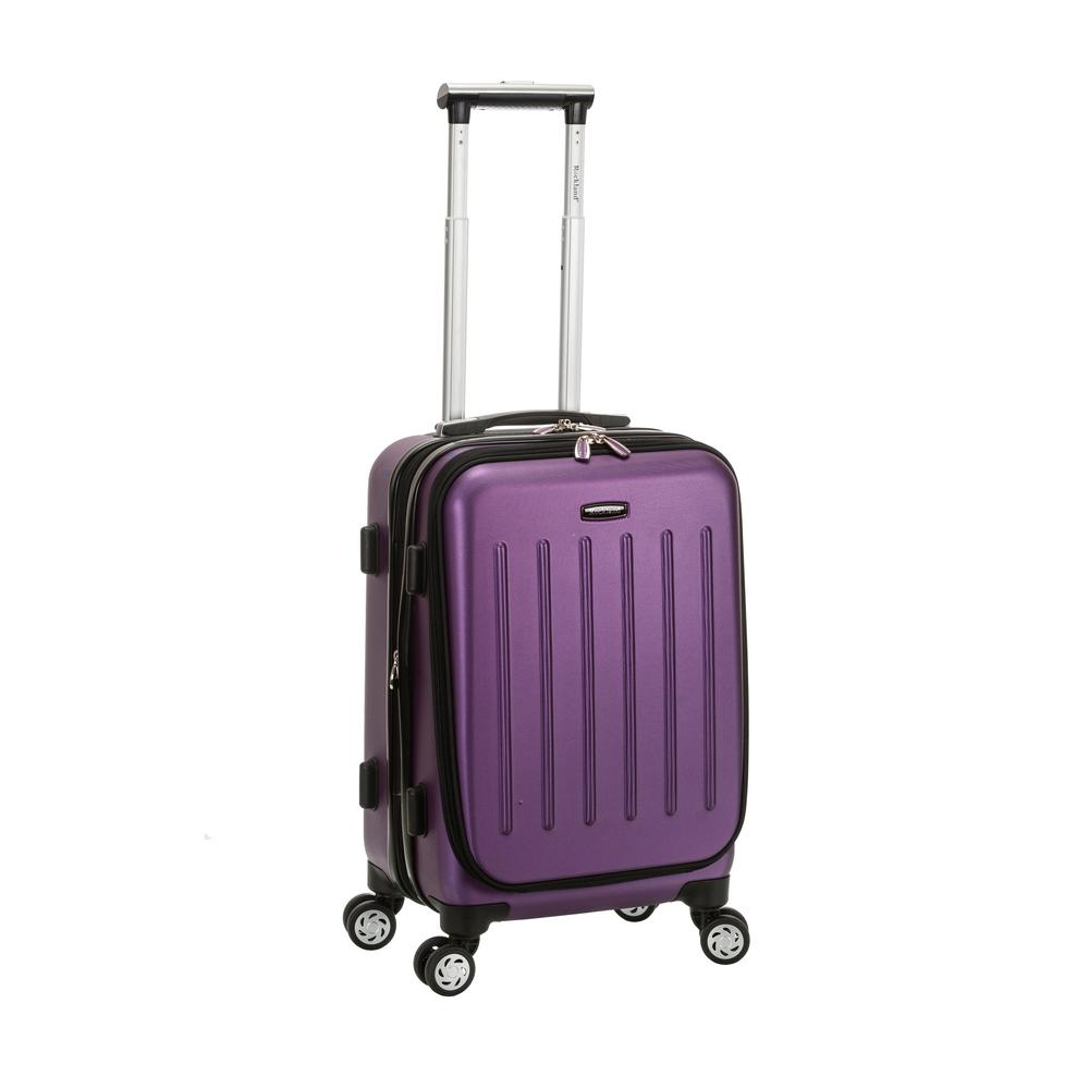Rockland Expandable Titan 19 in. Hardside Spinner Laptop Carry-On Suitcase, Purple